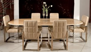 обеденный стол Ipe Cavalli VOYAGER, VOYAGER dining table marble