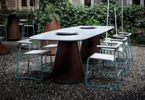 обеденный стол Arclinea Quilba, Quilba outdoor table