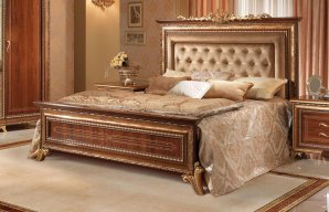 King size кровать Arredo Classic Giotto, Giotto queen bed button