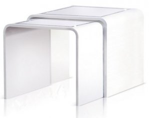 приставной столик Acrila Nesting tables Black Whit, Nesting tables Black Whit