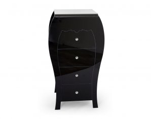 комод Acrila High dresser Black White, High dresser Black White