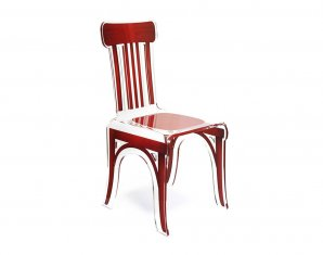 стул без подлокотников Acrila Bistrot chair Red wood, Bistrot chair Red wood