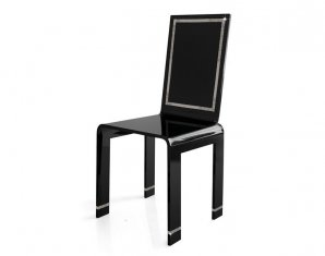 стул без подлокотников Acrila Chair Black White, Chair Black White