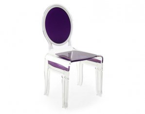 стул без подлокотников Acrila Chaise Sixteen purple, Chaise Sixteen purple