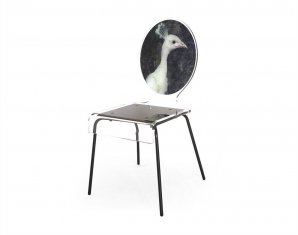 стул без подлокотников Acrila Graph chair Peacock, Graph chair Peacock