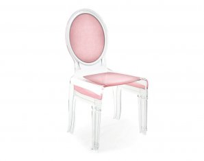 стул без подлокотников Acrila Sixteen Chair lignt pink, Sixteen Chair lignt pink