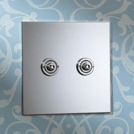 Выключатель двойной/диммер (реостат) Forbes & Lomax BUTTON DIMMERS AND IN-LINE DIMMER PACKS, 2GBELL.NIC