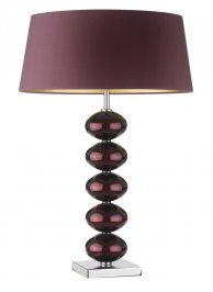 Светильник  настольный  Heathfield & Co Ballet, Ballet Mirror Aubergine Table Lamp