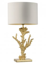 Светильник  настольный  Heathfield & Co Coral, Coral Gold Leaf Table Lamp