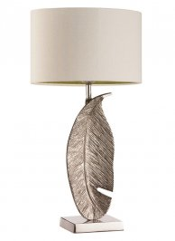 Светильник  настольный  Heathfield & Co Leaf, Leaf Nickel Medium Table Lamp