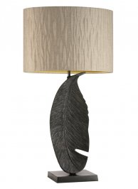 Светильник  настольный  Heathfield & Co Leaf, Leaf Oiled Bronze Large Table Lamp
