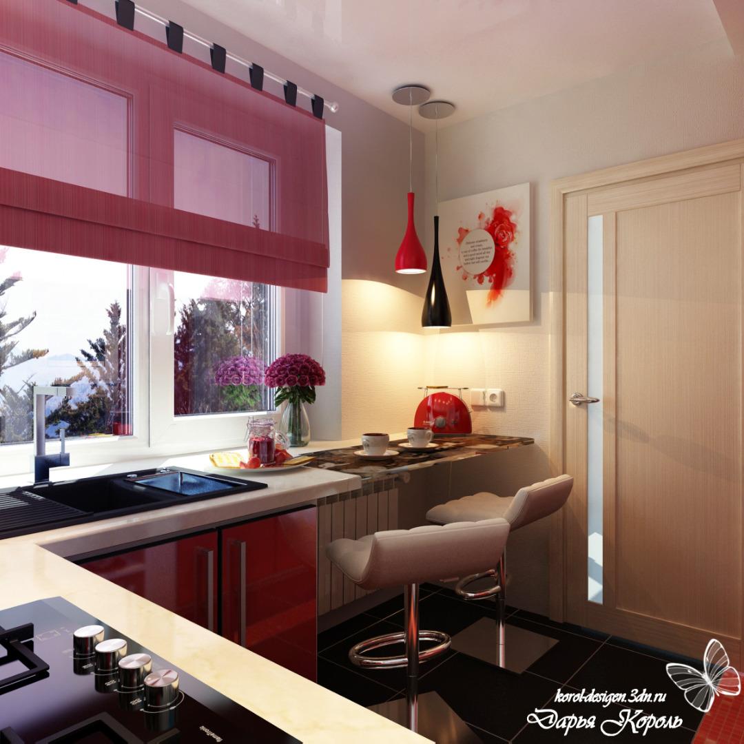 Кухня 6 кв.м дизайн с окном фото