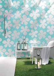Настенная плитка Bisazza Decoration Mosaics, Decoration-Mosaic-GLASS-FLOWERS-2
