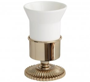 Стакан для зубных щеток Gentry Home GH Sun, ceramic_tumbler_holder_10624-oro