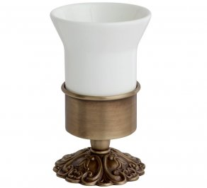 Стакан для зубных щеток Gentry Home GH Ivy, ceramic_tumbler_holder_10724-bronzo