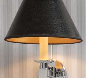 Светильник  настенный настенный Imperial Bathroom IB Lightning Collection, ib_brokton_wall_light_with_a_black_leather_shade