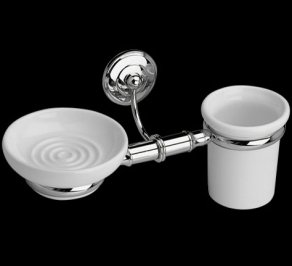 Стакан для зубных щеток Imperial Bathroom IB Rondine, ib_rondine_wall_mounted_soap_dish_and_tumbler