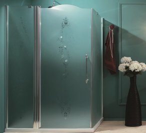 Душевая перегородка Gaia Shower Cabins, box_angolare_con_fisso_in_linea
