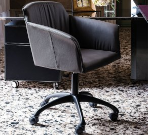 Стул с подлокотниками Cattelan Italia Tyler, tyler-wheels-chair-cb