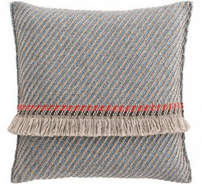 Подушка GAN Garden Layers, gl_big_cushion_diagonal_almond-blue
