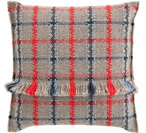 Подушка GAN Garden Layers, gl_big_cushion_tartan_blue