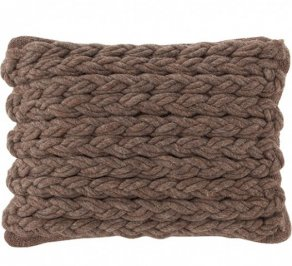 Подушка GAN Trenzas, trenzas_cushion_brown