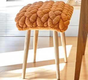 Табурет GAN Knitted stool, knitted_stool_orange
