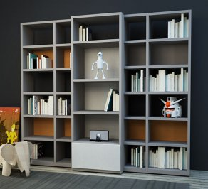 Шкаф книжный Granzotto Warm, bookshelf-1