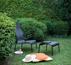 Стул с подлокотниками Magis design low chairs, Paso_Doble_Black_F-754