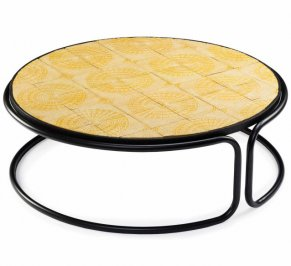Кофейный столик Mambo Caldas, caldas-round-center-table-yellow