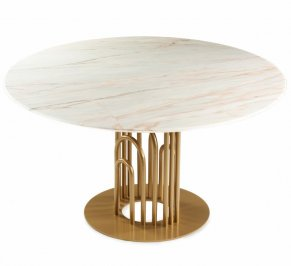 Обеденный стол Mambo Unlimited Ideas Bara, bara-dinner-table-120-gold