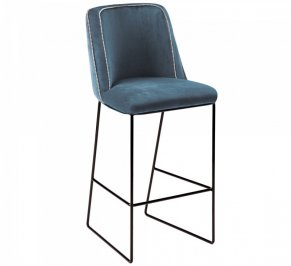 Барный стул Mambo Croix, croix-bar-chair-dark-blue