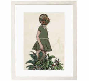 Картина Mambo Unlimited Ideas Illustration, girl-and-plants-white