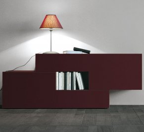 Тумба Lago Twins, twins-storage-red