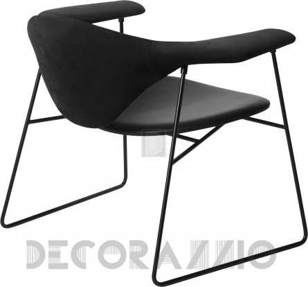 Кресло Gubi Masculo Lounge Chair - Sledge_Black_BlackSuede