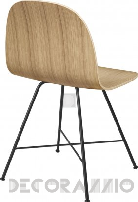 Стул Gubi 2D Dining Chair - Black_Oak