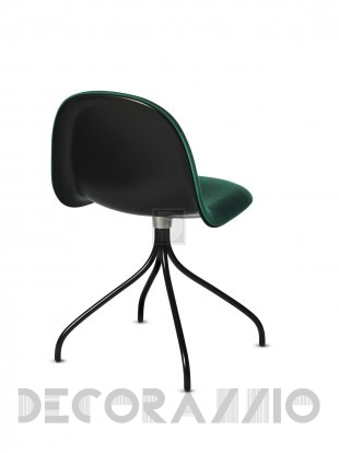 Кресло офисное Gubi 3D Meeting Chair - 3D_Swivel_Hirek_Black_Green