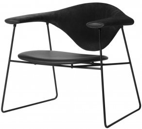Кресло Gubi Masculo Lounge Chair, Sledge_Black_BlackSuede