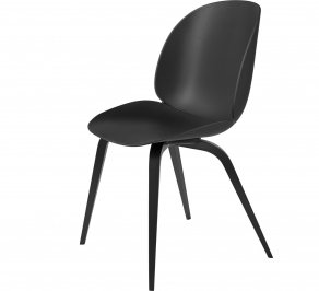 Стул без подлокотников Gubi Beetle Dining Chair, Unupholstered_BlackStainedBeech_Black