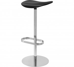 Барный стул Gubi 2D Bar Stool, Swivel_Chrome_BlackStainedBeech