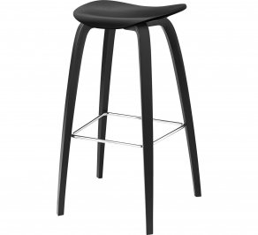 Барный стул Gubi 2D Bar Stool, 75_WoodBase_BlackStainedBeech
