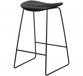Барный стул Gubi 2D Counter Stool, SledgeBase_Black_Wood_BlackStainedBirch