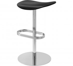 Барный стул Gubi 2D Counter Stool, Swivel_Chrome_BlackStainedBirch