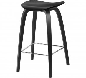 Барный стул Gubi 2D Counter Stool, Woodbase_Chrome_BlackStainedBirch
