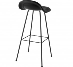 Барный стул Gubi 3D Counter Stool, CenterBase_Hirek_Black_Leather