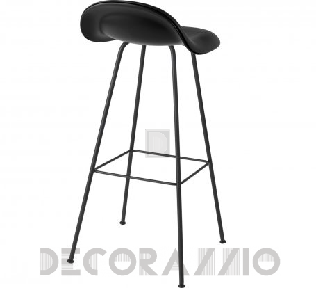 Стул барный Gubi 3D Counter Stool - CenterBase_Hirek_Black_Leather