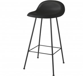 Барный стул Gubi 3D Counter Stool, 65_CenterBase_Black