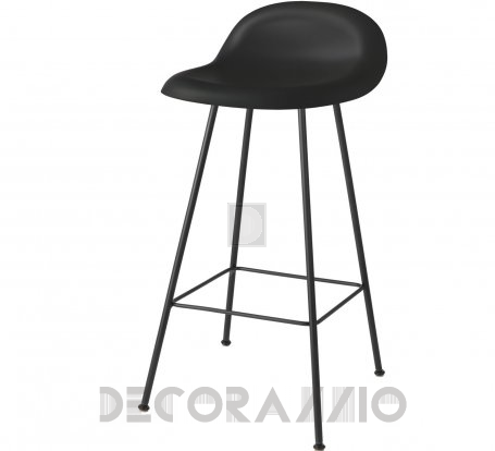 Барный стул Gubi 3D Counter Stool - 65_CenterBase_Black