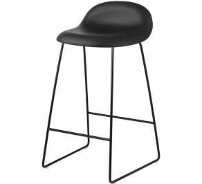 Барный стул Gubi 3D Counter Stool, CounterStool_Black_Leather