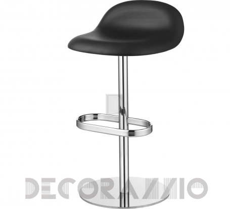 Стул барный Gubi 3D Counter Stool - SwivelBase_Chrome_Leather